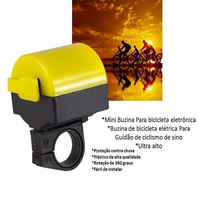 Buzina Para Bike Sirene Eletrônica
