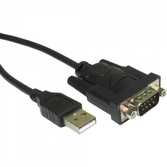 Cabo Adaptador Serial RS-232 x USB A Macho 0,8m CBUS0016 Pre
