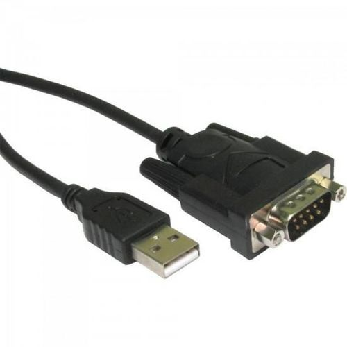 Cabo Adaptador Serial Rs-232 X USB A Macho 0,8m Cbus0016 Preto Storm Com CD