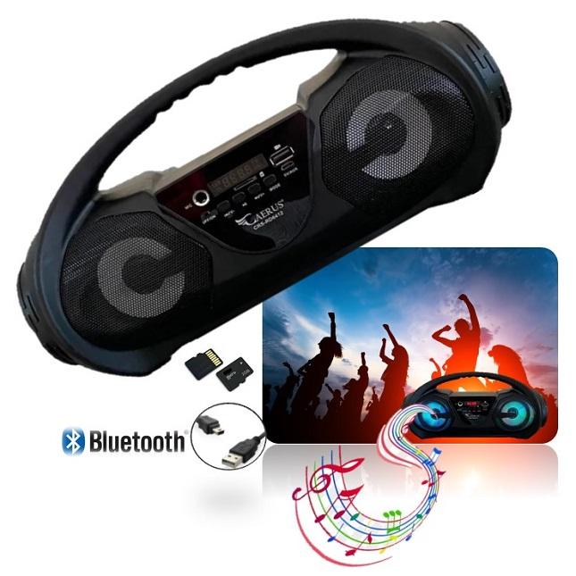 Caixa De Som Portátil Radio Bluetooth com Alça USB TF FM