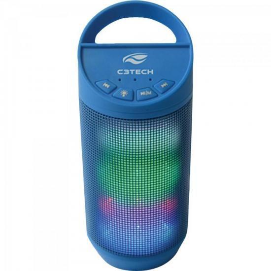Caixinha de Som Pulse 8W RMS Bluetooth SP-B50 Azul C3TECH