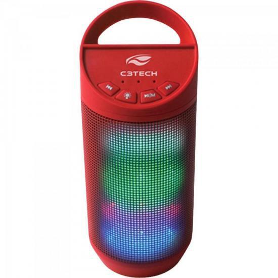 Caixinha de Som Pulse 8W RMS Bluetooth SP-B50 Vermelha C3TECH
