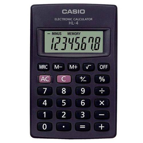 Calculadora de Bolso 8 Dígitos HL-4A Preta CASIO TOP