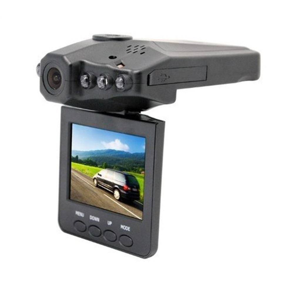 Câmera Filmadora Veicular Hd Dvr Visão Noturna Com Lcd