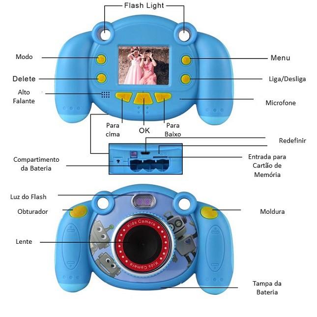 Camera Infantil Digital Foto Vídeo