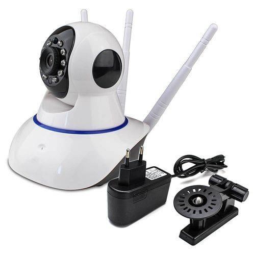 Câmera Ip 3 Antenas Sensor Noturno  Wireless Sem Fio Wifi Hd Rotação App Smartphone