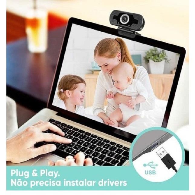 Camera Webcam Full Hd1080p Usb Segurança Aula Alta Resolução
