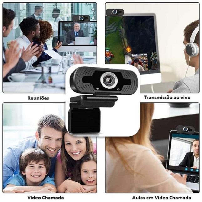 Camera Webcam Full Hd 1080p Usb Câmera Alta Resolução