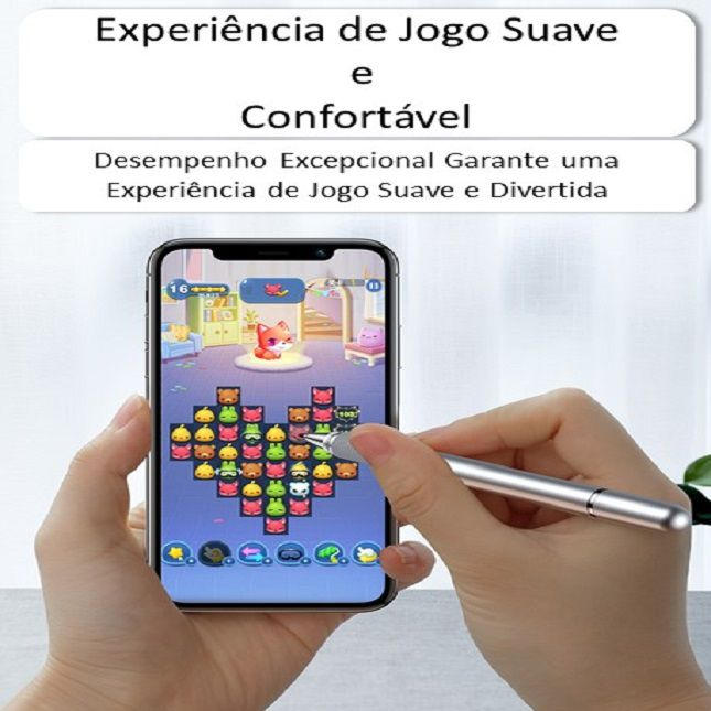 Caneta Touch Tablet Ipad Iphone HouseHold 2 em 1