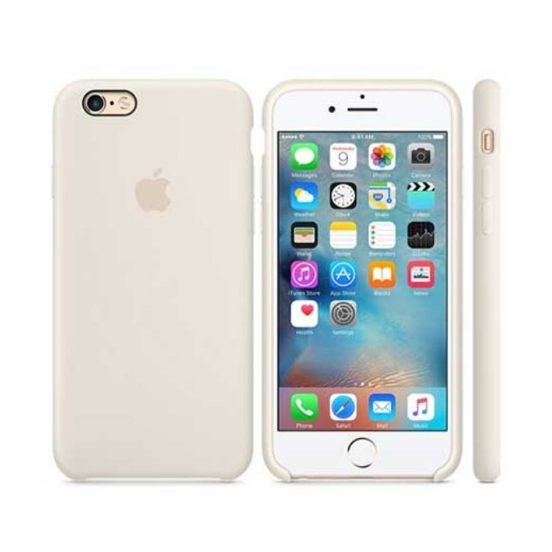 Capinha Silicone Logo iPhone 6s Branco