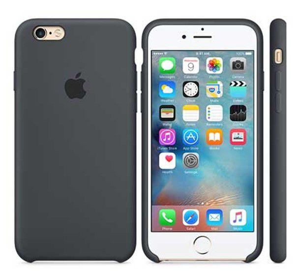 Capinha Silicone Logo iPhone 6s Preto