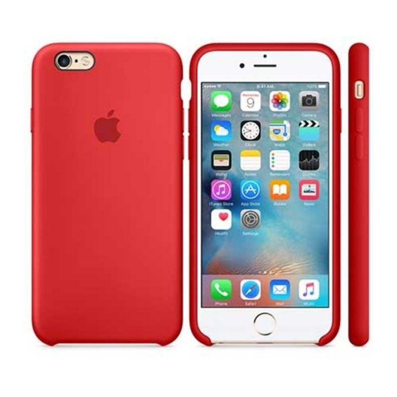 Capinha Silicone Logo iPhone 6s Vermelho