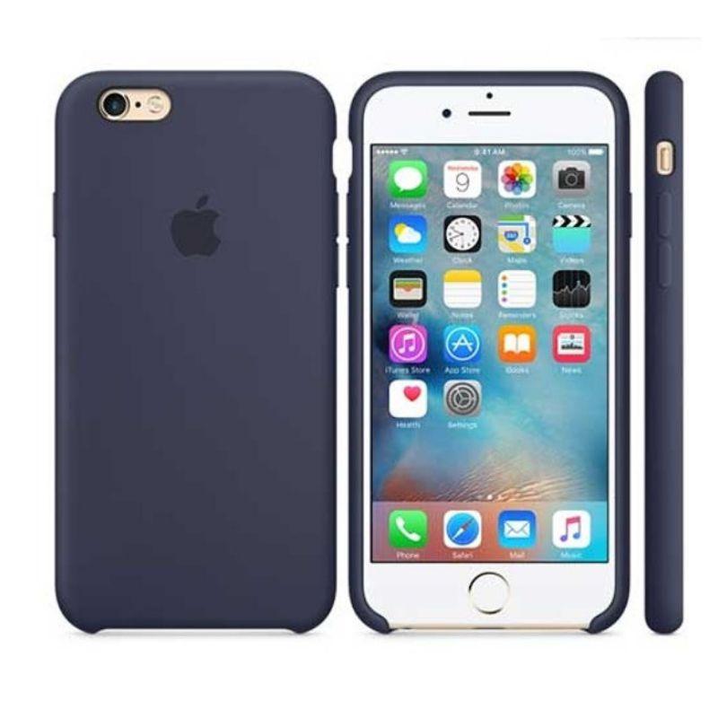 Capinha Silicone Logo iPhone 7 Azul Escuro