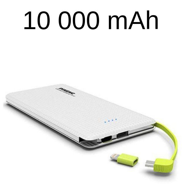 Carregador Portátil Pineng Power Bank Slim 10.000 Mah