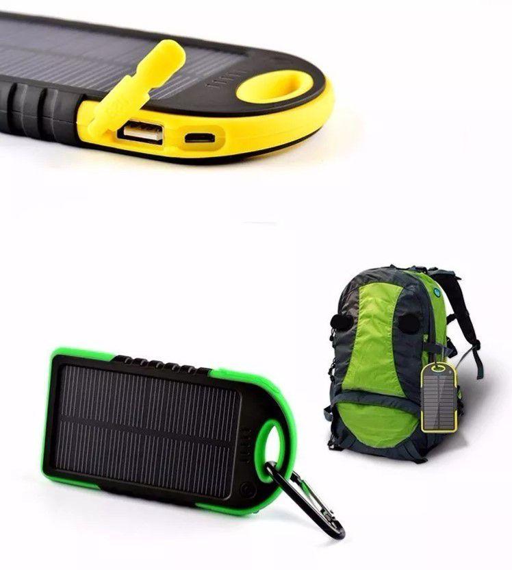Carregador Power Bank Solar Prova D'água E Poeira Universal