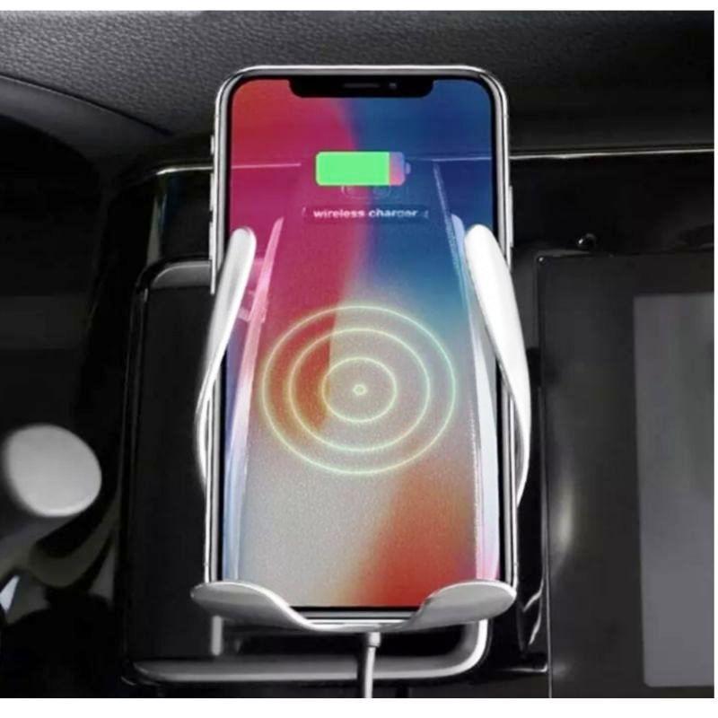 Carregador Veicular para celular Sem Fio  Movimentos Automatico S5 Fast Lançamento