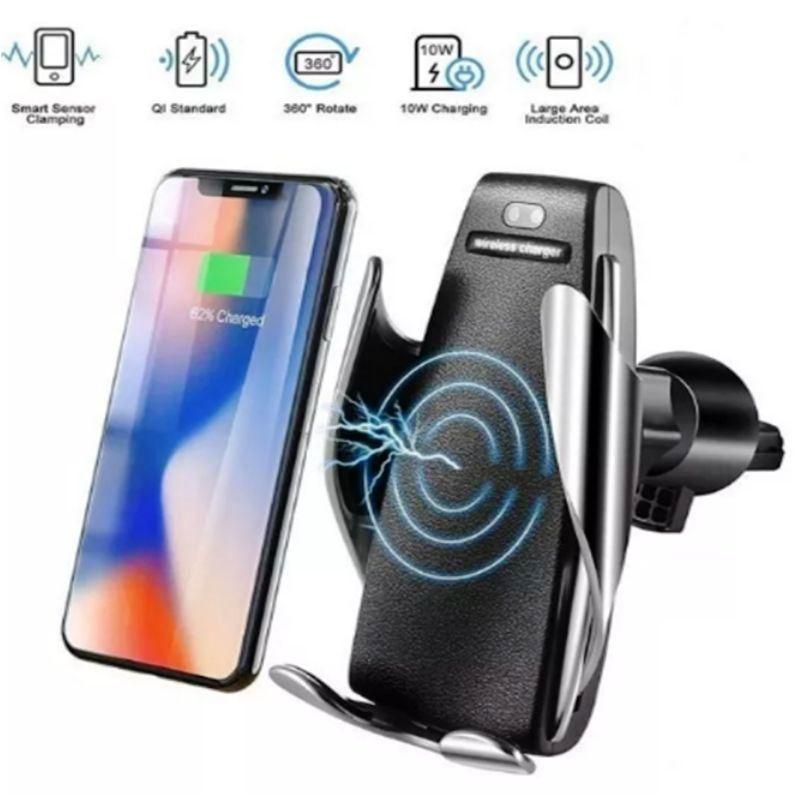 Carregador Veicular Sem Fio para celular Movimentos Automatico S5 Fast