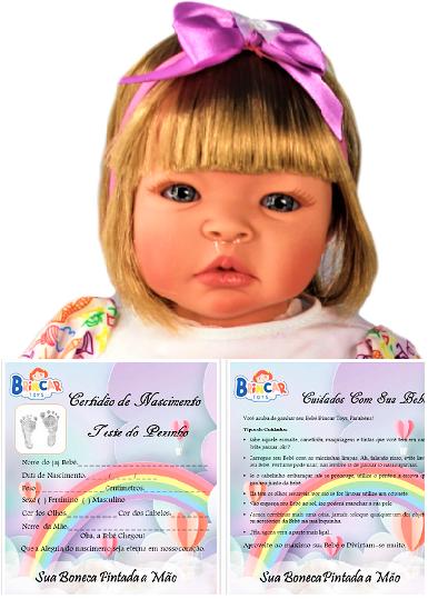 Bebê Reborn Helena Arco Íris Refletindo