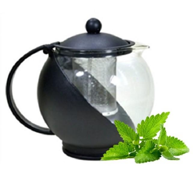 Chaleira Bule De Vidro Chá  Preto
