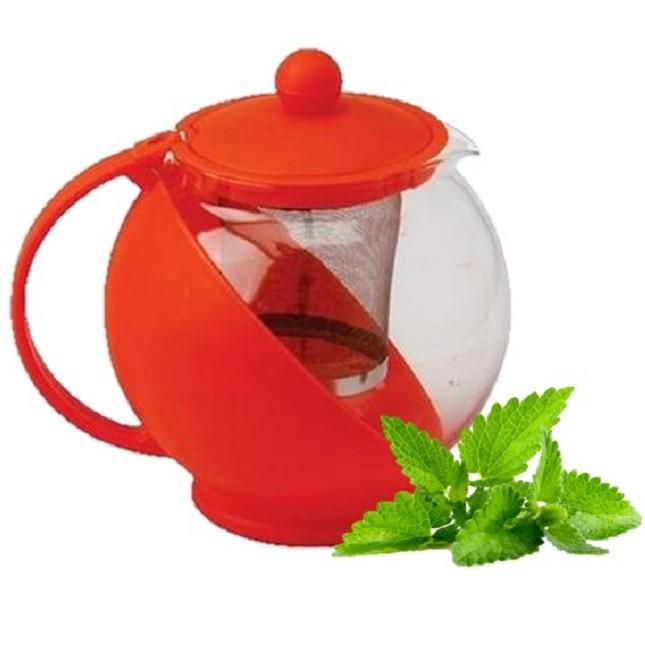Chaleira De Vidro Chá Vermelha Com Infusor