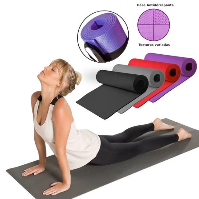 Colchonete Tapete Yoga em Eva com Alça