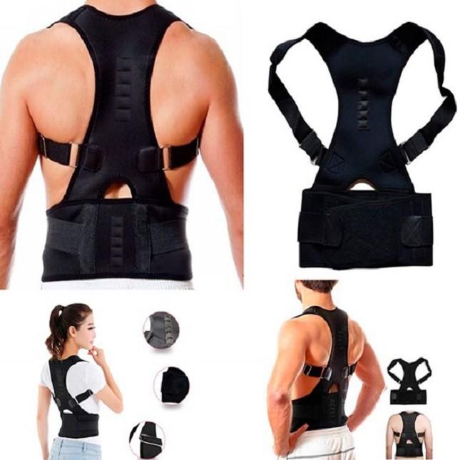 Colete Corretor  Postura Costas Magnetica Coluna GG