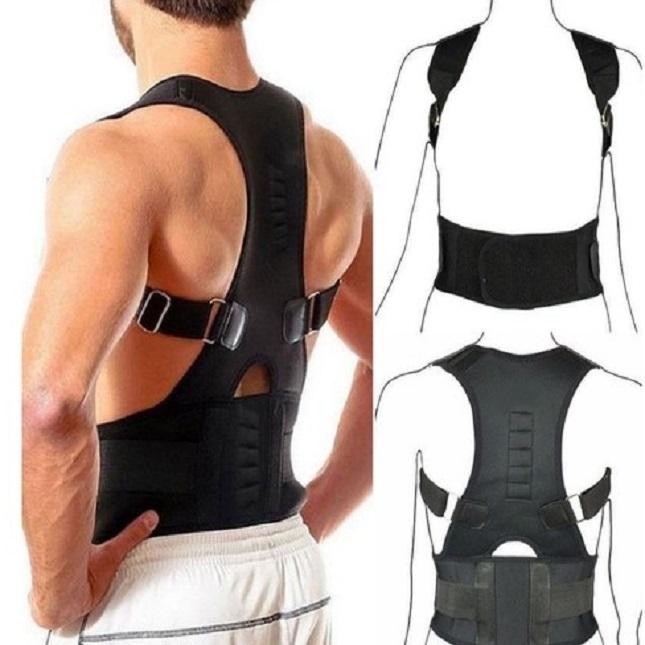 Colete Corretor  Postura Costas Magnética Coluna GG
