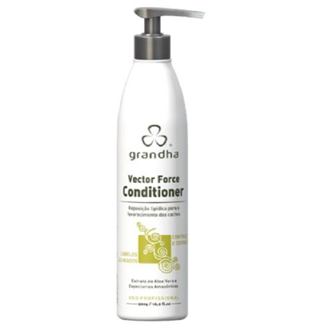 Condicionador  Vector Force Grandha  para Cachos Low Poo 500ml