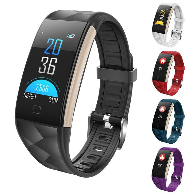 Relogio Pulseira Bracelete Inteligente SmartWatch  T20  Plus Android e IOS Roxo
