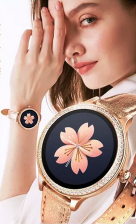 Relógio SmartWatch M8 Feminino Pulseira Face WhatsApp Metal Dourada