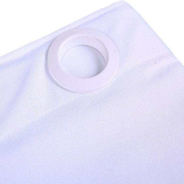 Cortina Oxford com Ilhós Branca 3,00 x 2,50 Refletindo Você