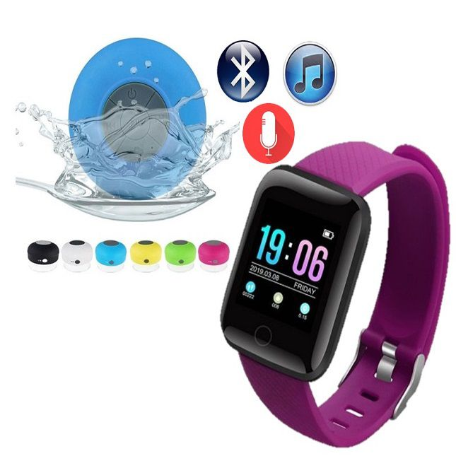 D13 Smartwatch Android Face  Whatsapp Roxo e Caixa de som Bluetooth