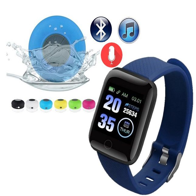 D13 Smartwatch Android Face  Whatsapp Azul e Caixa de som Bluetooth