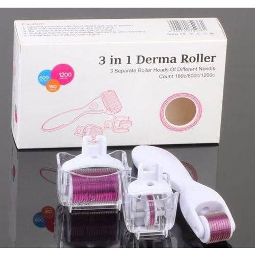 Dermaroller 3 em 1 Derma Roller System  Microagulhamento