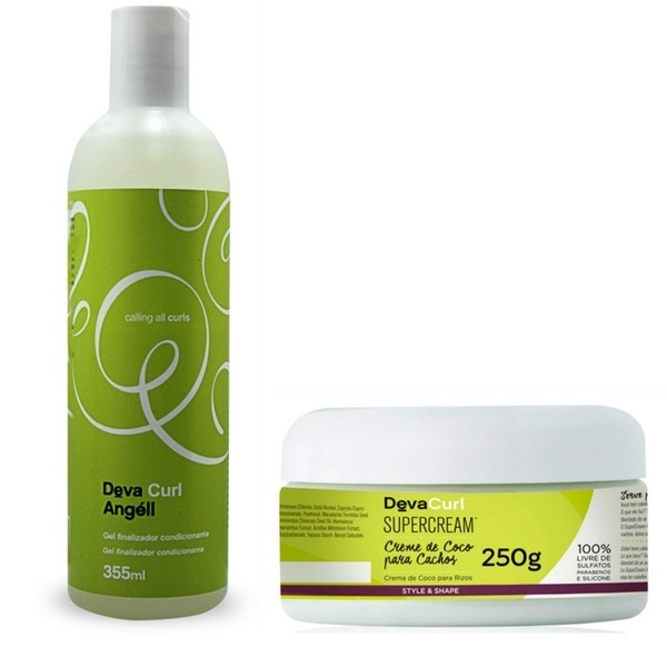 Kit Deva Curl Creme De Coco Super Cream + Angéll 355ml