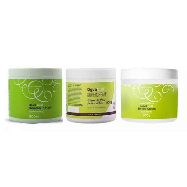 Deva Curl Heaven In Hair + Supercream E Styling Cream 3x500g