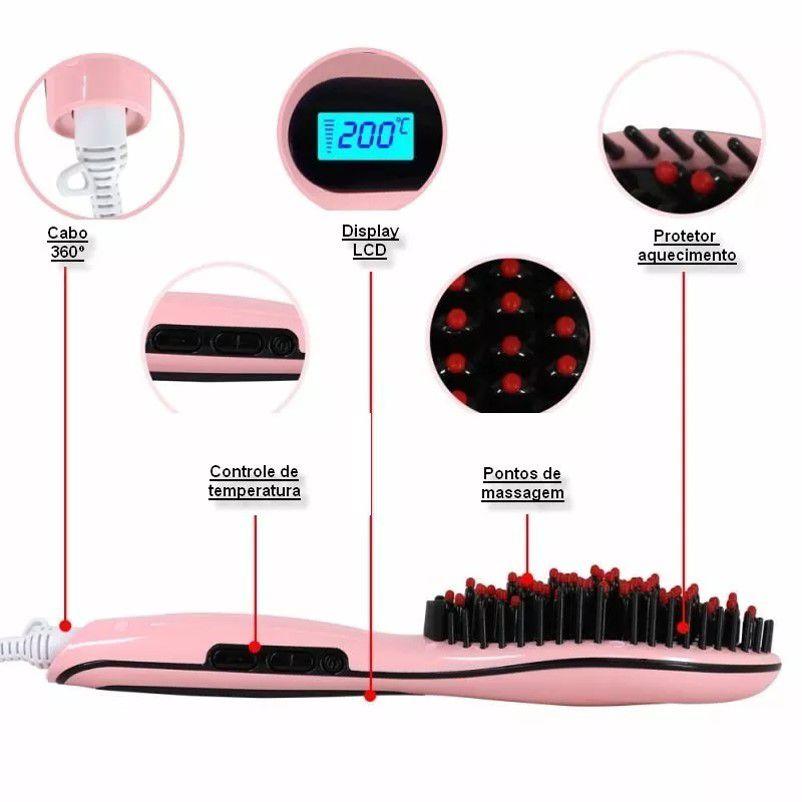 Escova Alisadora Fast Hair Straightener Hqt-906