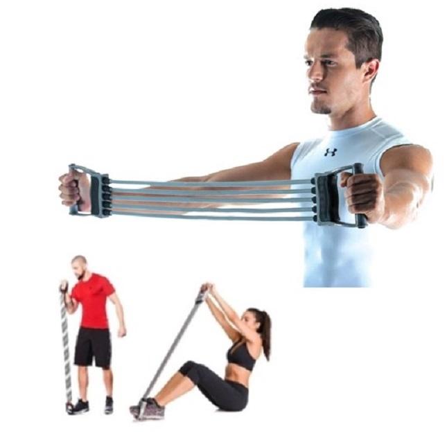 Extensor 5 Elástico Academia Treino Fitness Musculação