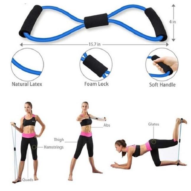 Extensor Elástico Pilates Academia Musculação Treino