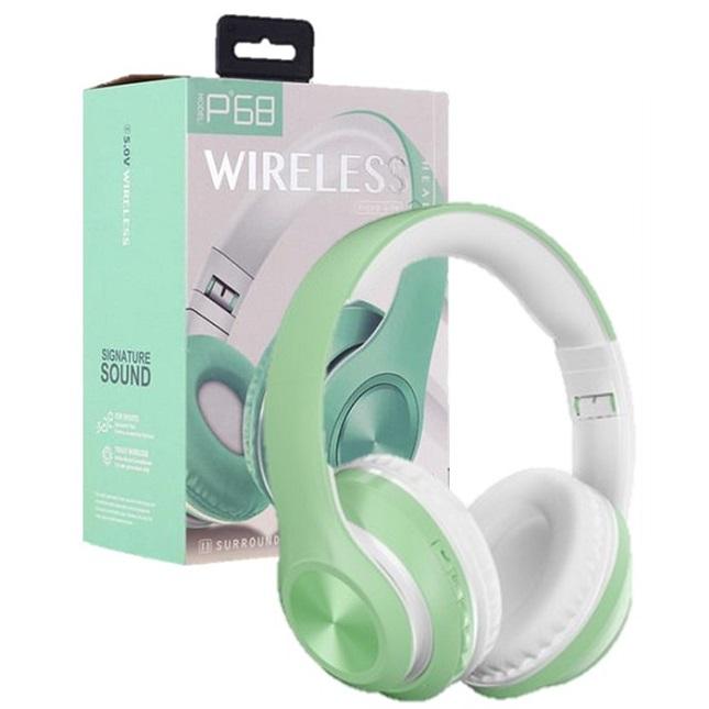 Fone De Ouvido Bluetooth Sem Fio Dobrável Verde
