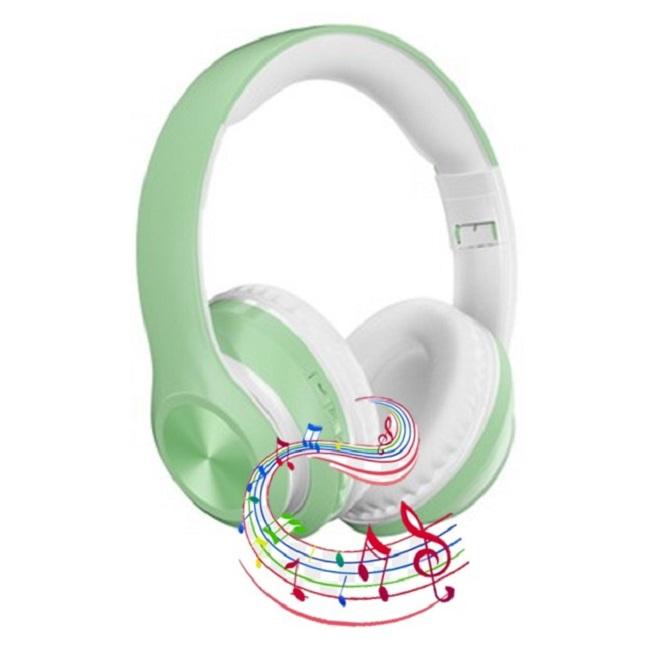 Fone De Ouvido Bluetooth Verde  Sem Fio 5.0 Dobrável P68