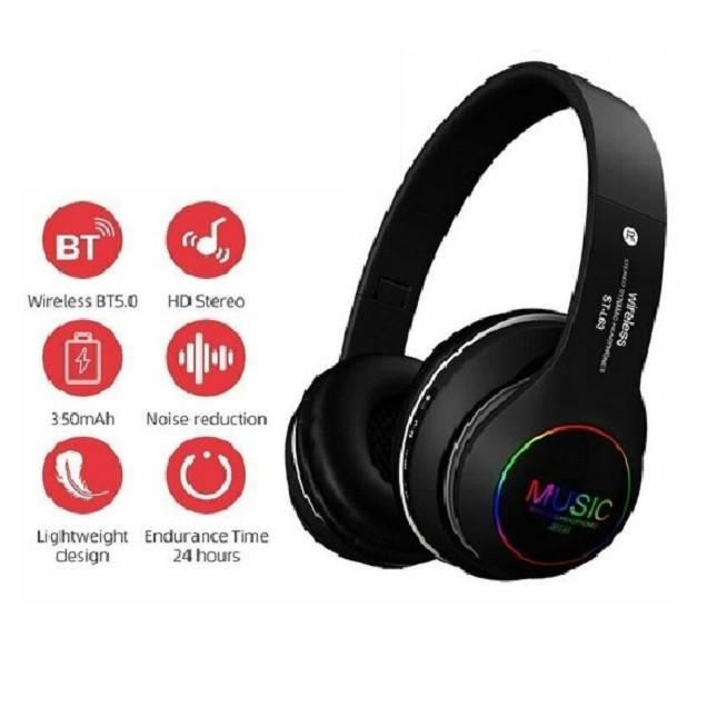 Fone De Ouvido  Dobrável Bluetooth 5.0 ST-L63