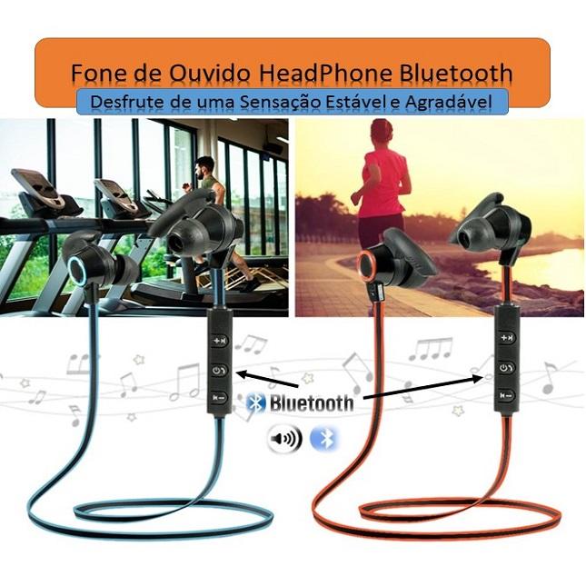 Fone de Ouvido Headphone Sports Bluetooth AMW-810 Estéreo