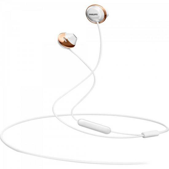 Fone de Ouvido INTRA Auricular com Microfone SHE4205WT/00 Branco Philips