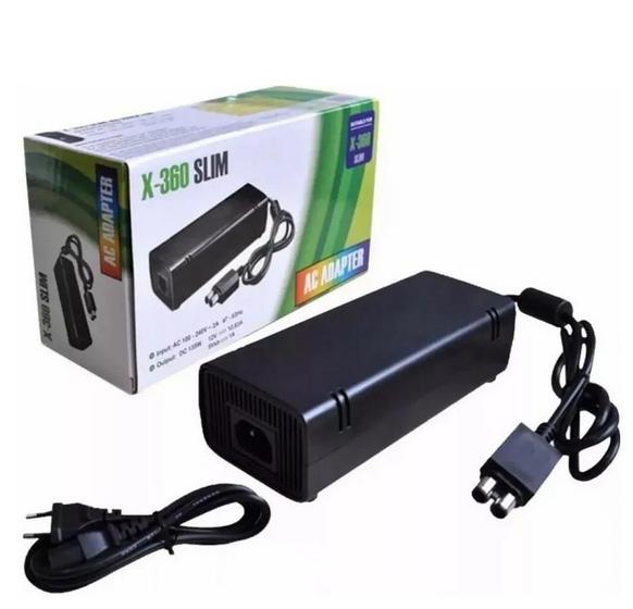 Fonte Xbox 360 Slim 2 pinos 110/220 volts bivolts