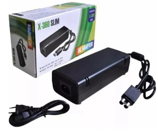 Fonte Xbox 360 Slim 2 pinos alimentação 110/220 volts bivolts