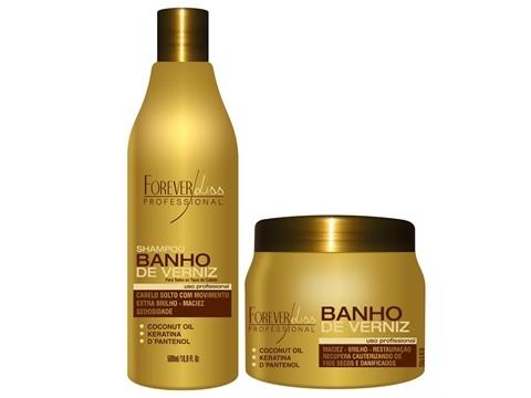 Forever Liss Banho de Verniz Kit Duo (Shampoo+Máscara 250ml)