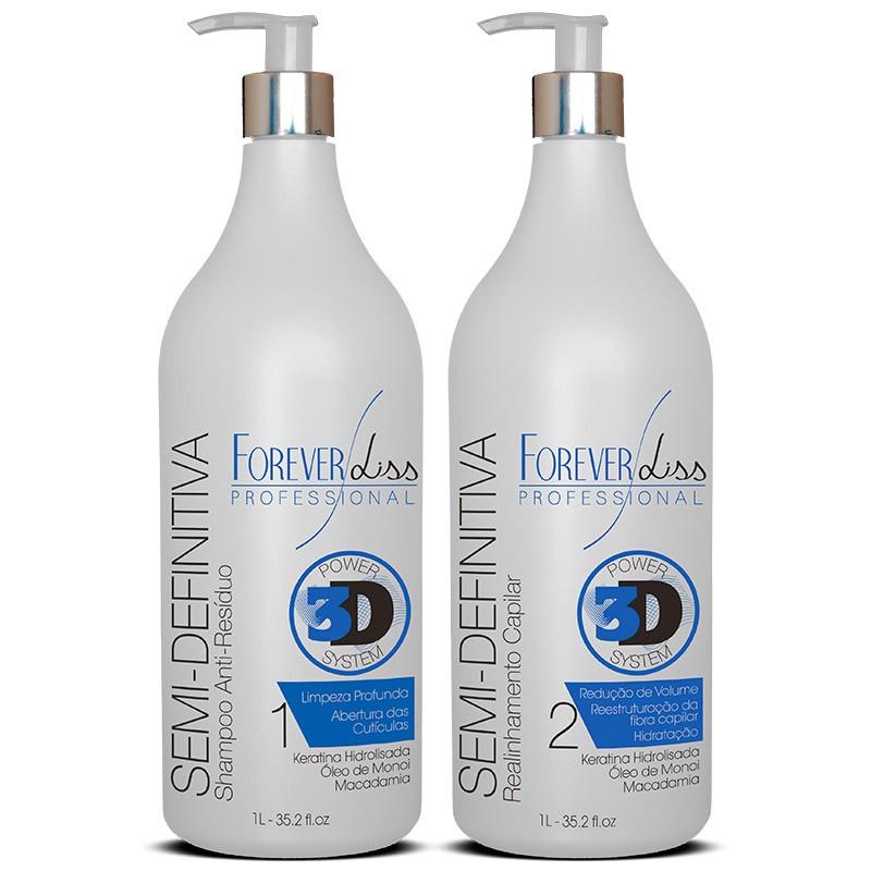 Forever Liss Escova Semi Definitiva Power 3D System Kit 2x1 litro