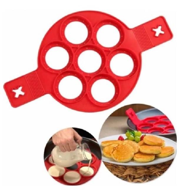 Forma de Silicone Antiaderente para Panqueca Omelete Ovos
