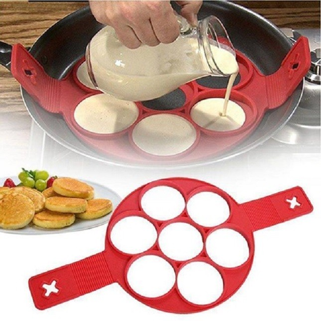 Forma de Silicone para Panqueca Omelete Ovos Antiaderente